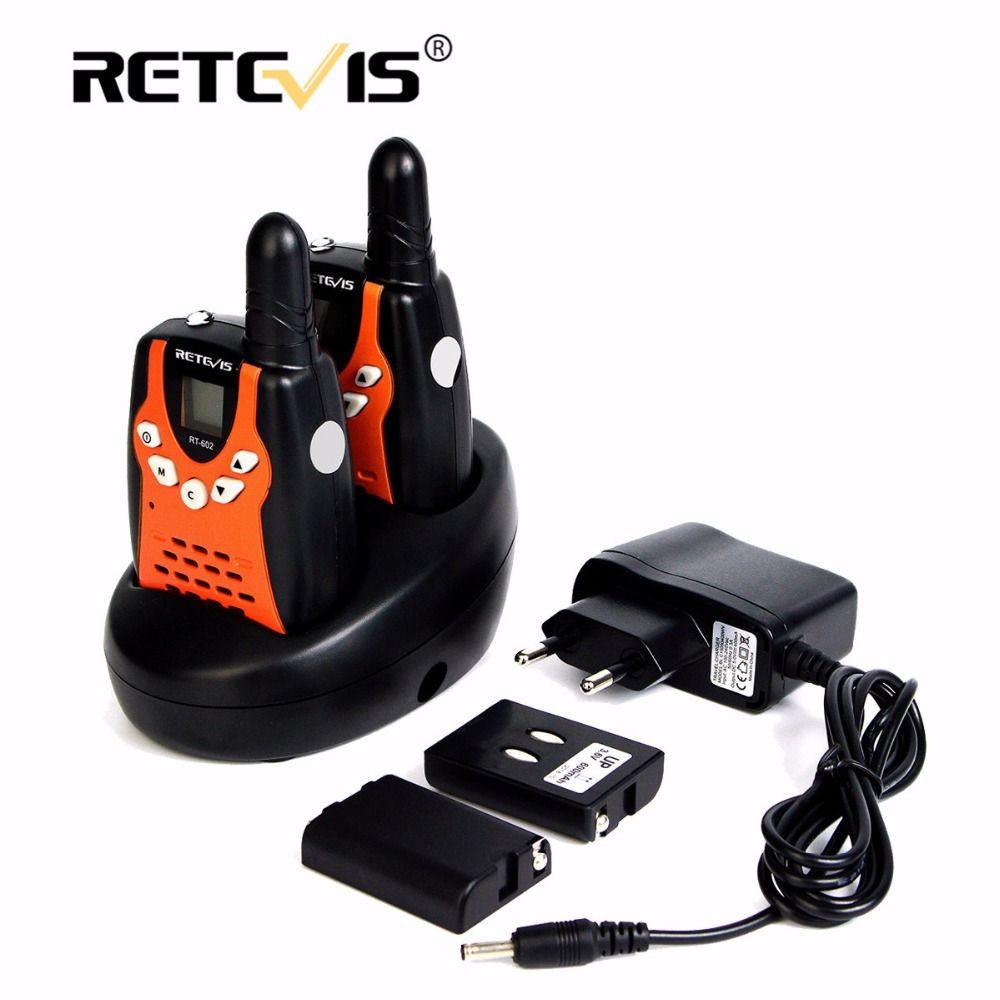 2pcs Children Walkie Talkie For Kids Retevis RT602 0.5W PMR 8/22CH PTT Flashlight Rechargeable Battery Mini 2 Way Radio RT-602