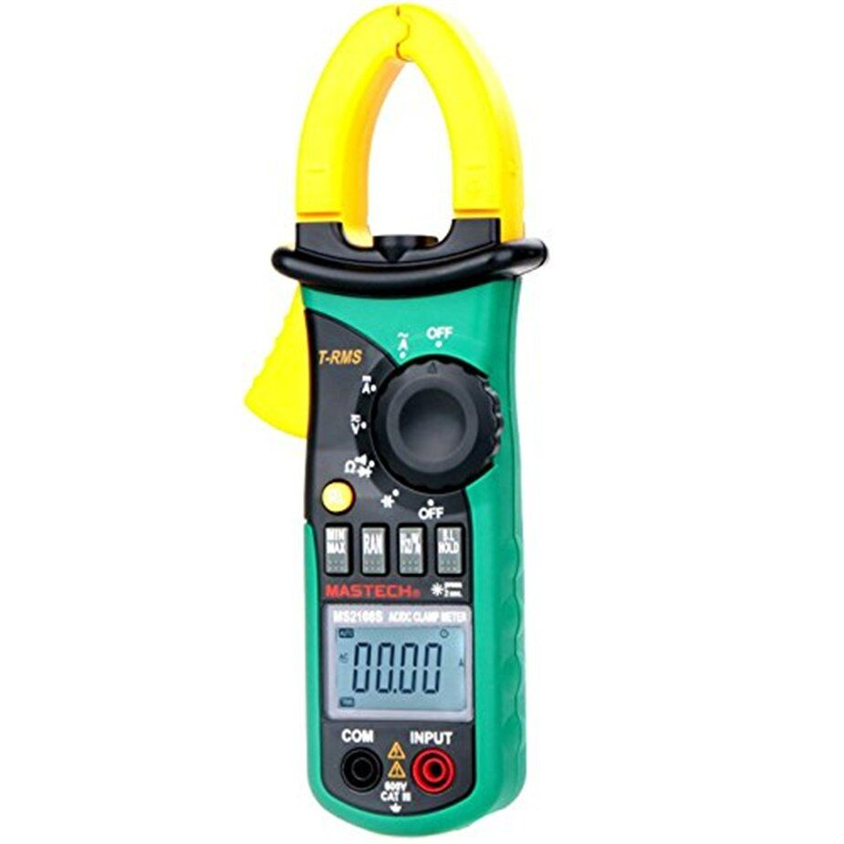 MASTECH MS2108S True RMS 6600 counts Digital AC DC Current 600A Clamp Meter Multimeter Capacitance Frequency Inrus