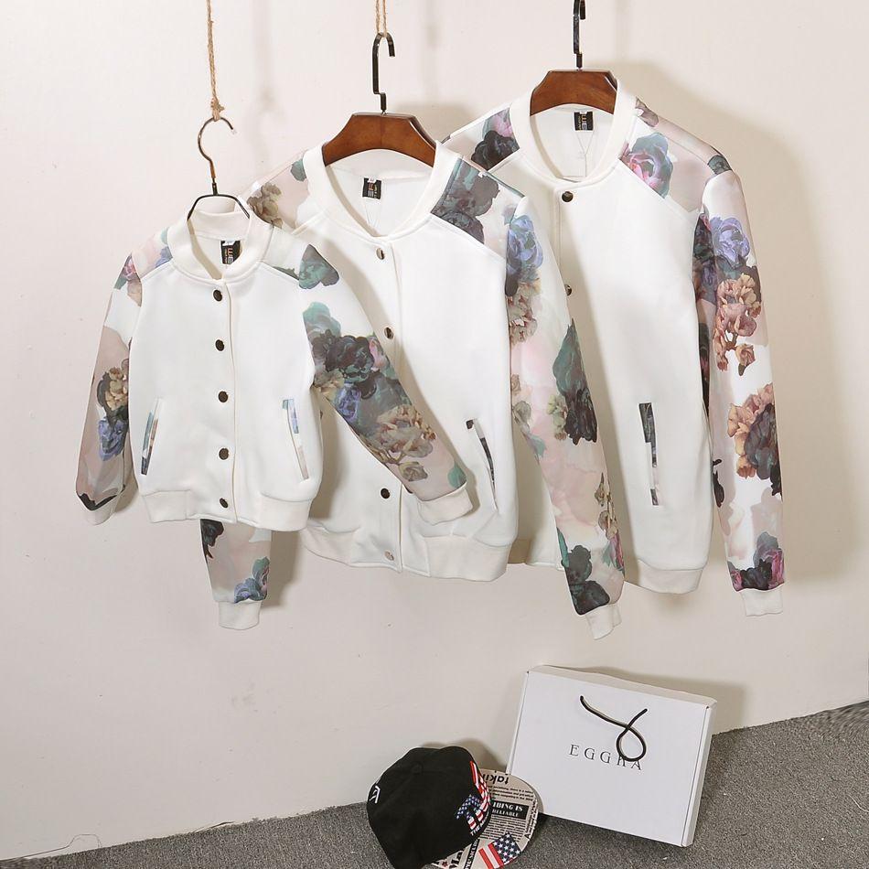 2016 Семейная одежда осенне-зимние семейные одинаковые кофты с леопардовым принтом однобортные бейсболки семейный комплект одежды