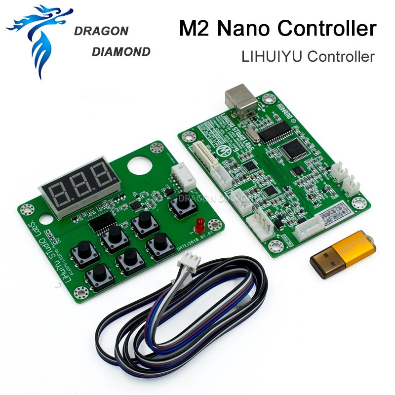 Original LIHUIYU M2 Nano Laser Controller Mutter Hauptplatine + Control Panel + Dongle B System Stecher Cutter DIY 3020 3040 K40