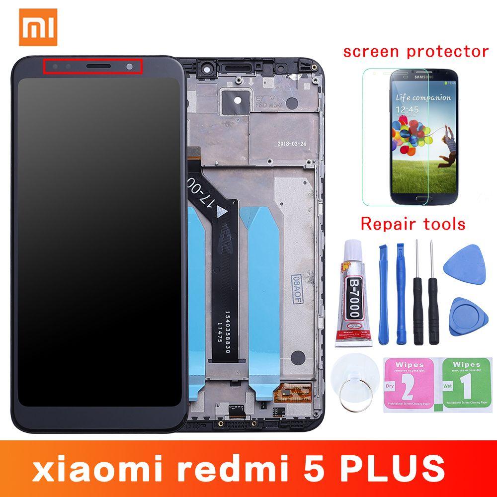 Original pour Xiaomi Redmi 5 Plus écran LCD + cadre 10 écran tactile Redmi5 Plus LCD numériseur remplacement pièces de rechange
