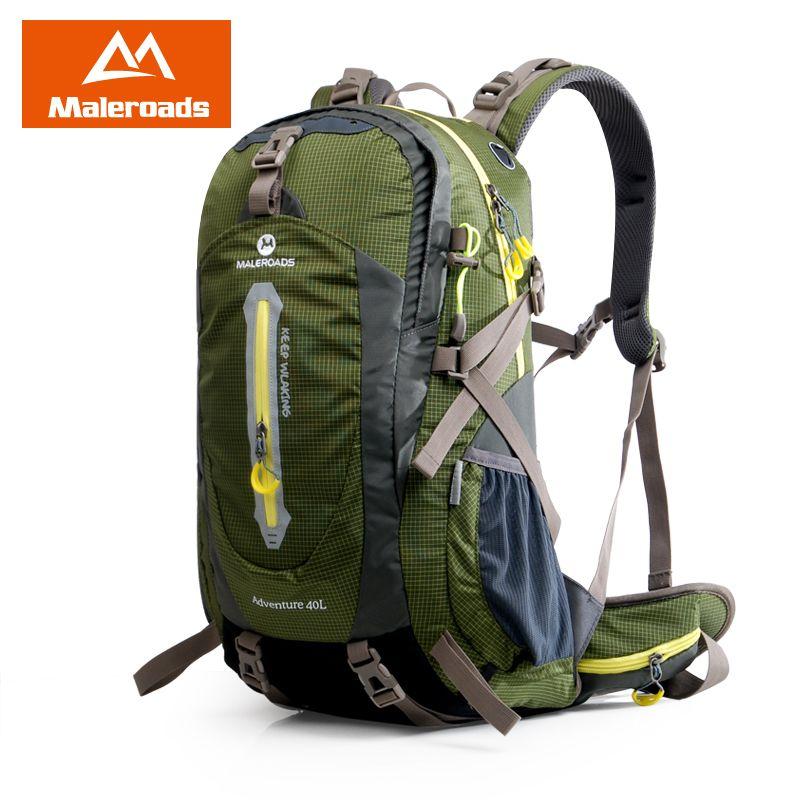 Maleroads Camping Hiking Backpack Sports Bag Outdoor Travel Trekk Rucksack Mountain Climb Equipment 40 50L Men Women Teenager