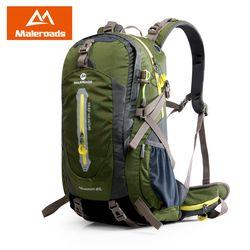 Maleroads Ransel Kemah Daki Gunung Ransel Olahraga Tas Luar Ruangan Perjalanan Ransel Trekk Gunung Climb Peralatan 40 50L Pria Wanita