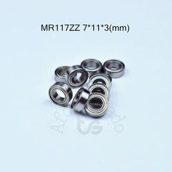 MR117ZZ 7*11*3 (мм) Бесплатная доставка ABEC-5 подшипник 10 шт. из металла запечатанная миниатюра мини подшипник MR MR117 MR117ZZ хромированные стальные подш...