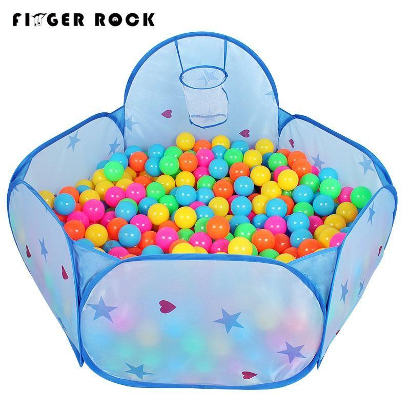 Finger Rock 150 cm enfants à l'intérieur de la maison jeu tentes étoile motif tirer Basket-Ball panier océan balle piscine enfants à l'extérieur maison jouets