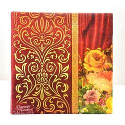 Новые высококлассные винтажные красные цветочные бумажные салфетки кафе вечерние салфетки для салфеток украшение в технике декупажа бума...