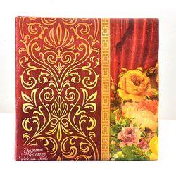 Nuevo de alta calidad de la vendimia flor roja papel servilletas café & party tissue servilletas decoupage decoración papel 33 cm * 33 cm 20 unids/pack/lot