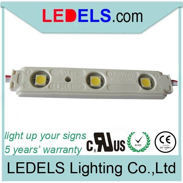500pcs 12v 7512 5050 smd 3 led module white waterproof light lamp 3 years warranty send via ems or dhl