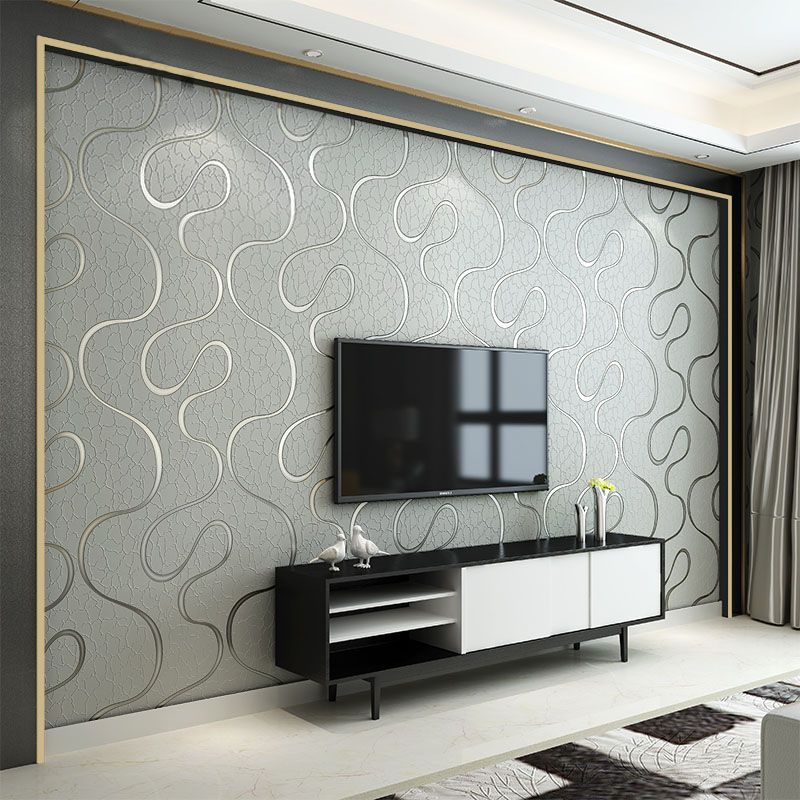 Modern Non-woven 3D Stereo Curve Striped Wallpapers For Living Room Bedroom Wallpaper Roll For Walls Papel De Parede Listrado 3D
