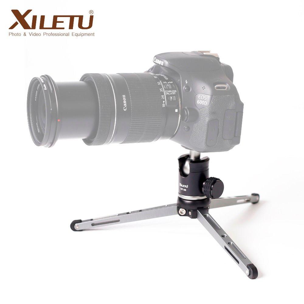 XILETU MT26 + XT15 support de bureau à roulement élevé Mini trépied de dessus de table et rotule pour appareil photo reflex numérique sans miroir Smartphone