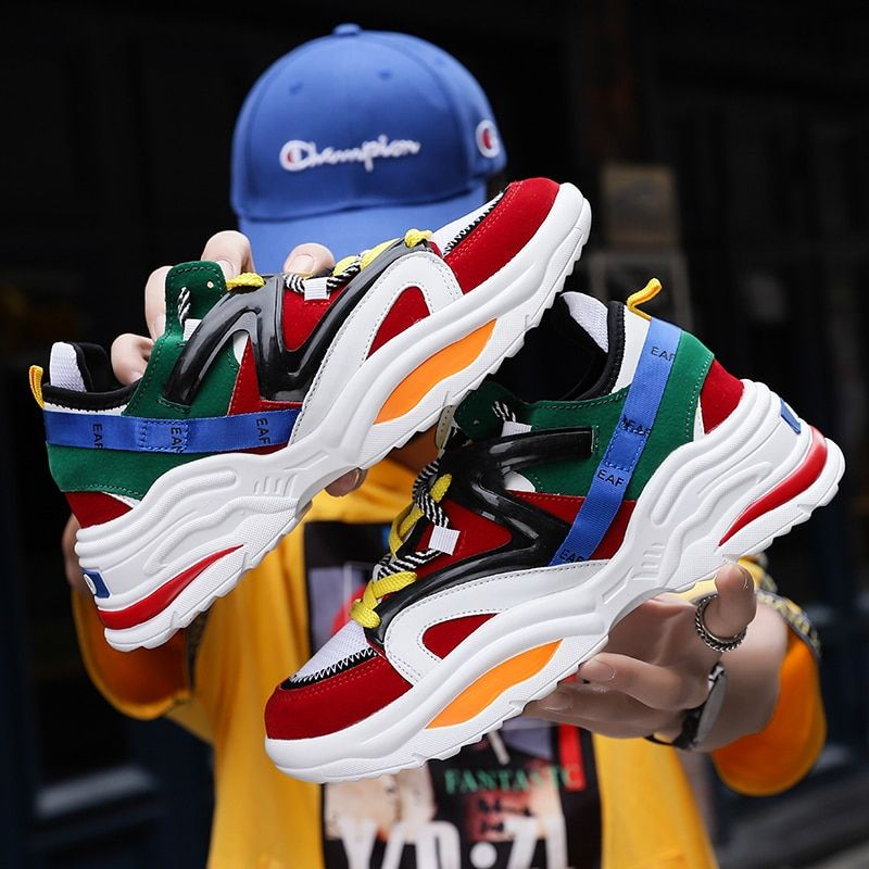 2019 Harajuku Autumn Vintage Sneakers Men Breathable Mesh Casual Shoes Men Comfortable Fashion Tenis Masculino Adulto Sneakers