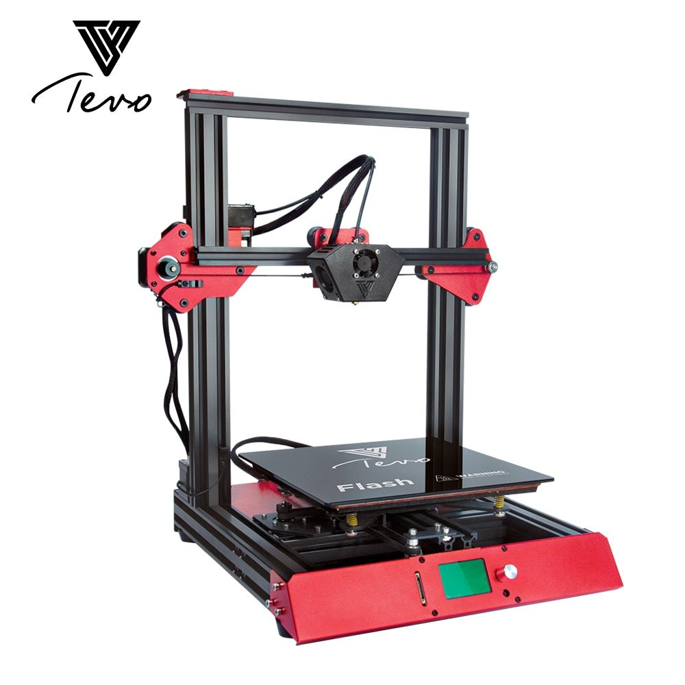 2018 TEVO Flash 3D Printer Impresora 3D 3D Printer kit Aluminium Extrusion Prebuilt 98% SD card Titan Extruder
