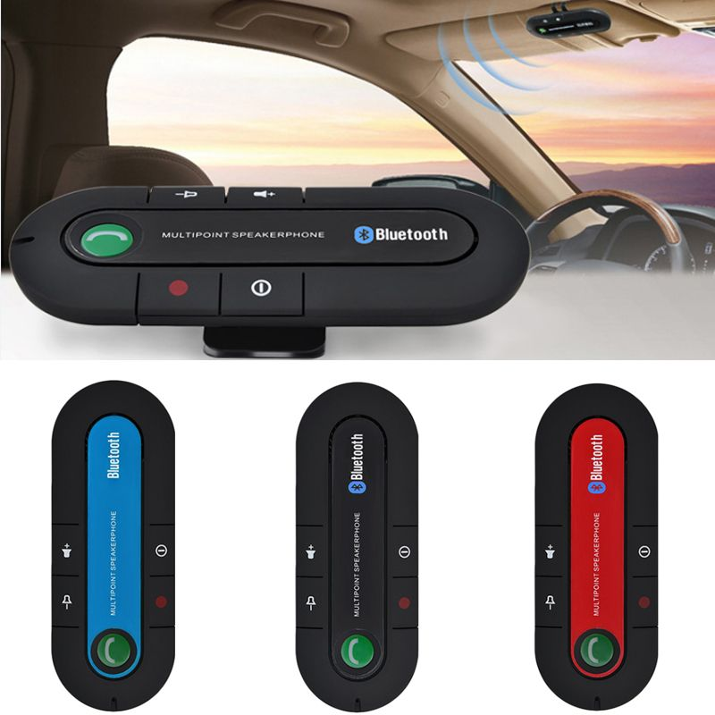 2017 Slim Bluetooth Car Kit Universal Wireless Multipoint Magnetic Hands Free Bluetooth Car Kit libre voiture Speaker Visor Clip