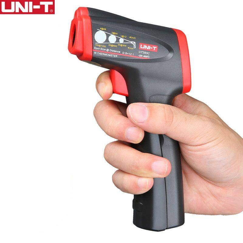 Thermomètre infrarouge UT300C de UNI-T mesure la température à partir d'une distance facile à transporter température de test rapide sans contact