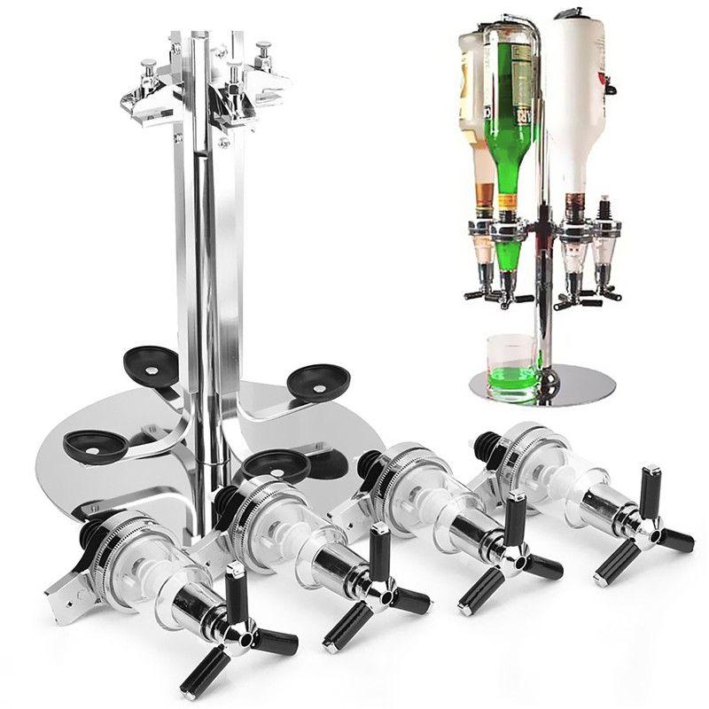4 têtes 6 têtes rotatif en acier inoxydable vin jus Cocktail Stand boissons optique distributeur titulaire pour Bar Butler