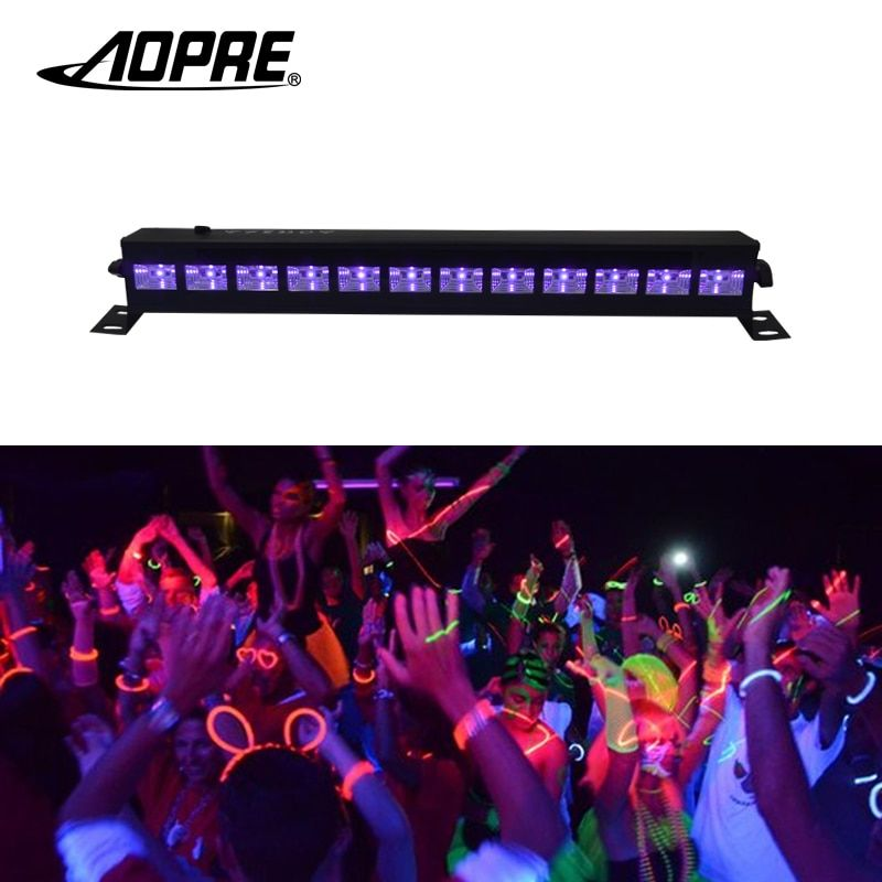 Aopre UV Stage Light Violet Led Bar Laser Projection Lighting Party Club Disco Light For Christmas Indoor Stage Effect Lights