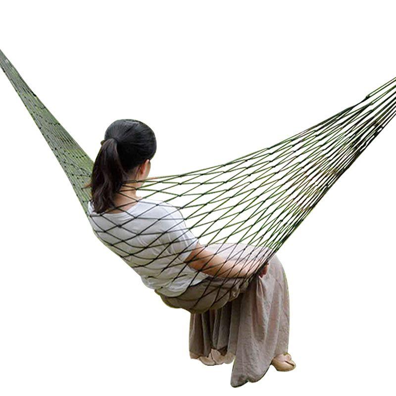 Hamac de jardin en Nylon Portable swingHang filet de couchage hamaca pour voyage en plein air Camping hamak bleu vert hamac rouge