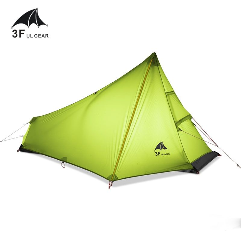 3F UL GEAR 740g Oudoor Ultralight Camping <font><b>Tent</b></font> 3 Season 1 Single Person Professional 15D Nylon Silicon Coating Rodless <font><b>Tent</b></font>