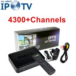 4300 + Canaux IPTV Mag250 USA Latino Europe ROYAUME-UNI IL Espagne Suisse Pays-Bas Maltais Afrique Arabe Mag 250 Boîte PK SUBTV