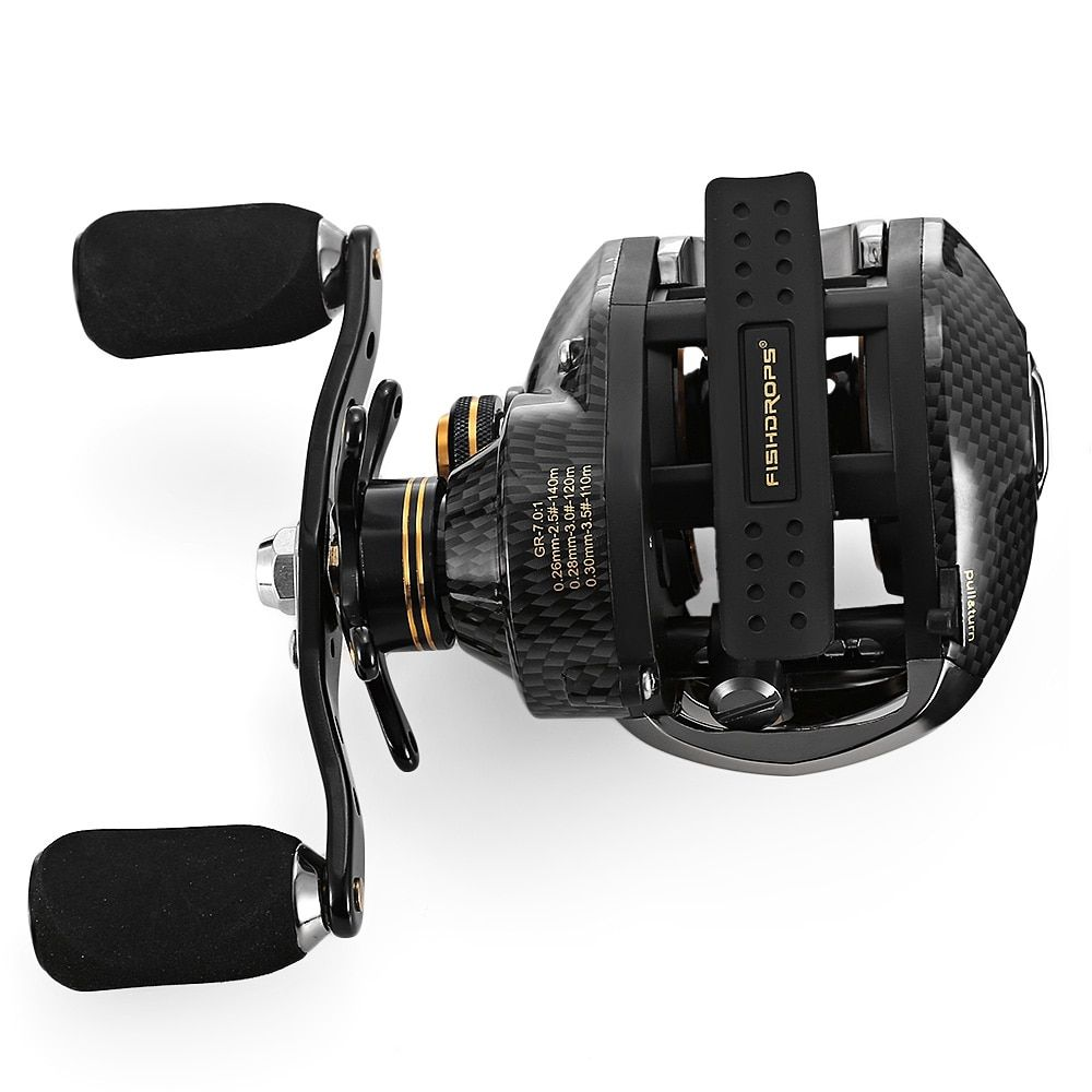 Fishdrops LB200 Fishing Reel 7.0:1 Bait Casting Reels Left Right Hand Fishing One Way Clutch Baitcasting Reel Hot Sale