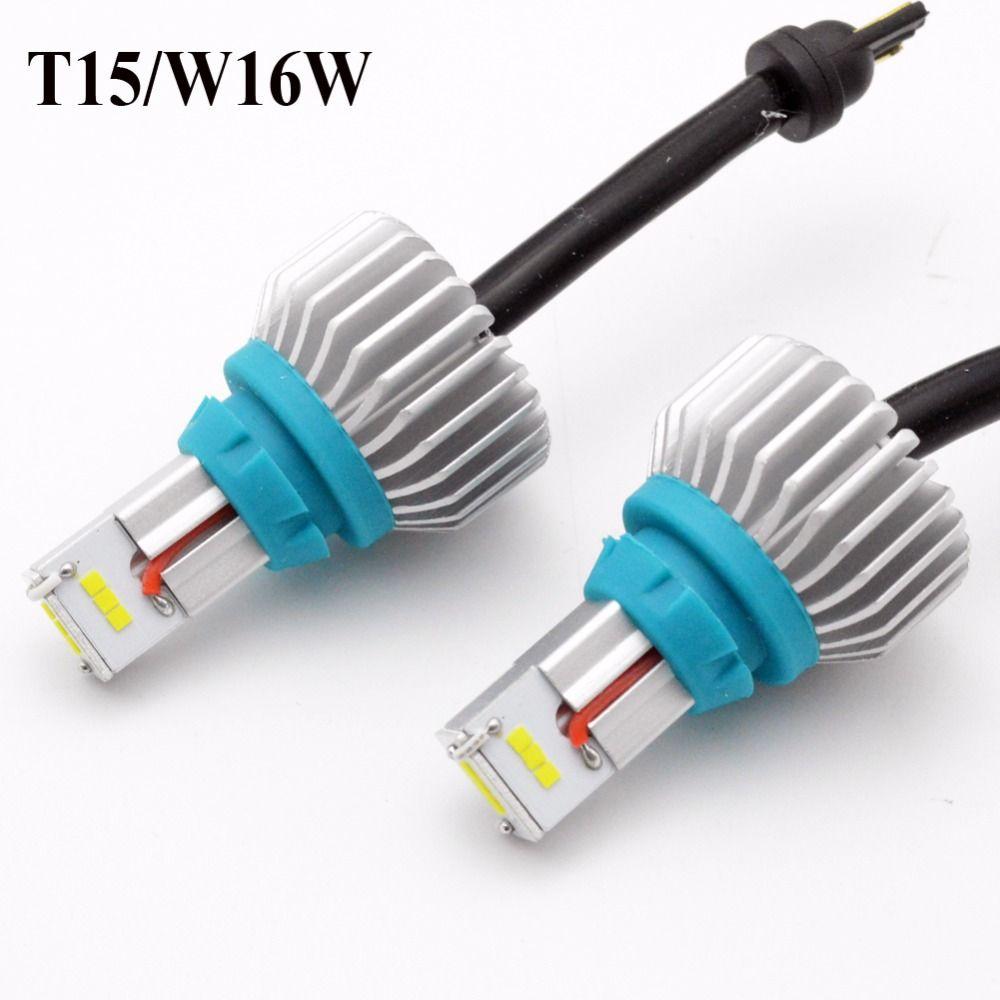 1set 6500K White 2000lm 12-24V T15 W16W 912 921 CSP 9-SMD LED CANBUS NO ERROR Car Backup Reverse Tail Bulb Brake Light