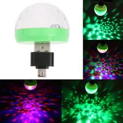 Mini-USB светодиодные фонари для вечеринки Портативный кристалл магический шар домашнего вечерние караоке украшения красочные сцены светодио...