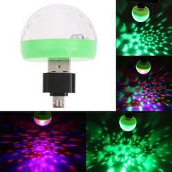 Mini USB led Parti Lumières Portable Cristal Magique Balle Accueil Parti Karaoké Décorations Coloré Étape CONDUIT de Lumière Disco