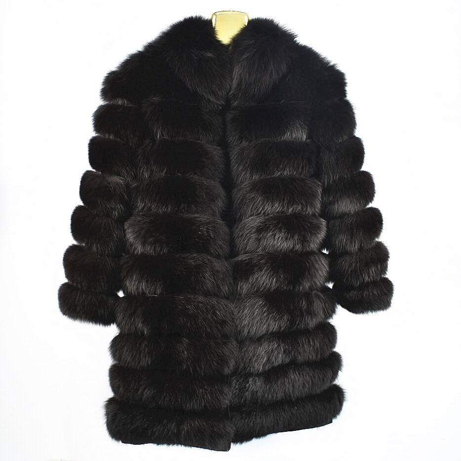 2018 damen neue natürliche fuchs pelz mantel ärmeln abnehmbare jacke kann lange leder pelz kragen pelz kragen herbst und winter warm