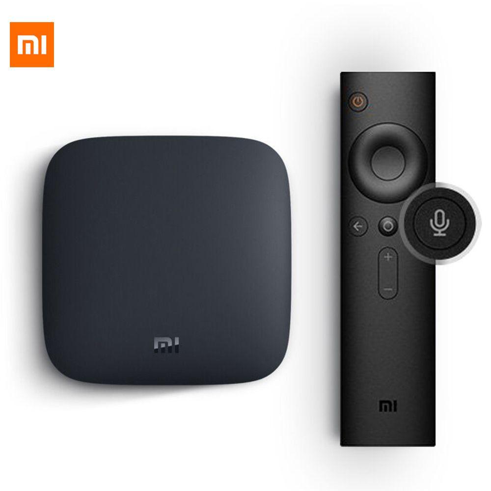 [Global Version] Xiaomi Mi Tv Box 3 Android Mi Box3 4K 60fps Amlogic Quad Core Xiaomi Box 3 Cortex-A53 Mali-450 2GB 2.4/ 5G WIFI