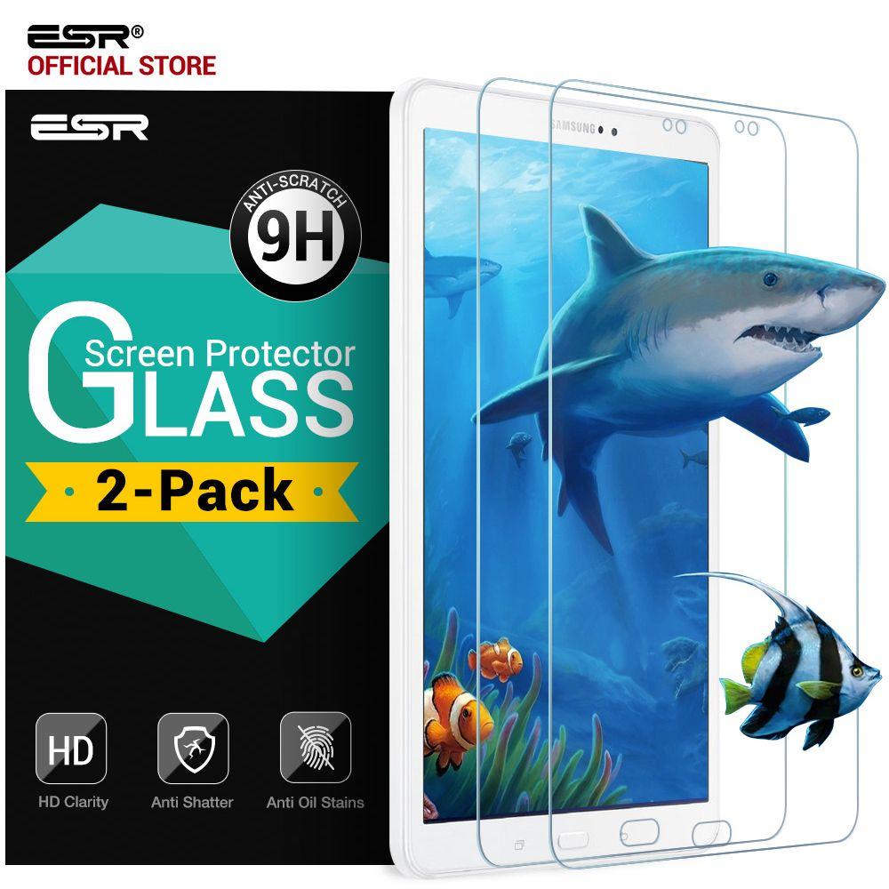 2 Paket Displayschutzfolie für Samsung Galaxy Tab Eine 10,1 SM-T585 T580/T580N, 0,33mm 9 H Anti-Scratch Blasenfreie Gehärtetem Glas Film