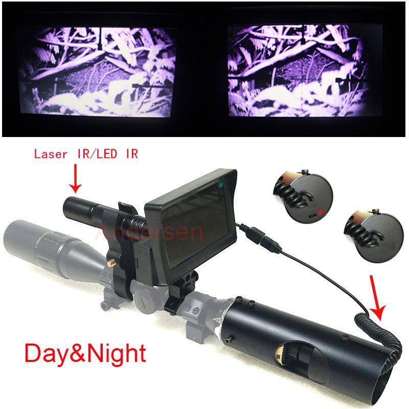 Vente chaude en plein air chasse optique tactique numérique Laser vue infrarouge vision nocturne utilisation de jour et de nuit