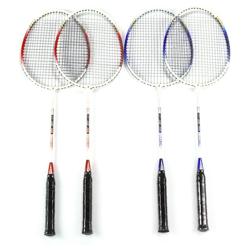 2 stücke 718A Aluminium Legierung Leichte Badminton Schläger mit Tragen Tasche Ausbildung Badminton Schläger Sport Ausrüstung Langlebig