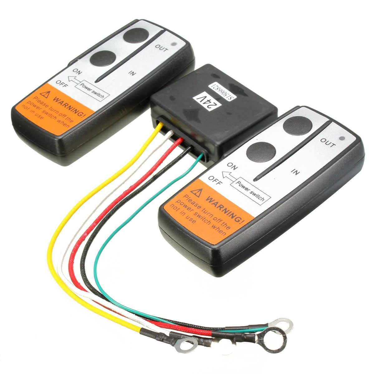 Brand NEW 24 Voltage Recovery Winch Crane Wireless Remote Controller Twin Handset Kits