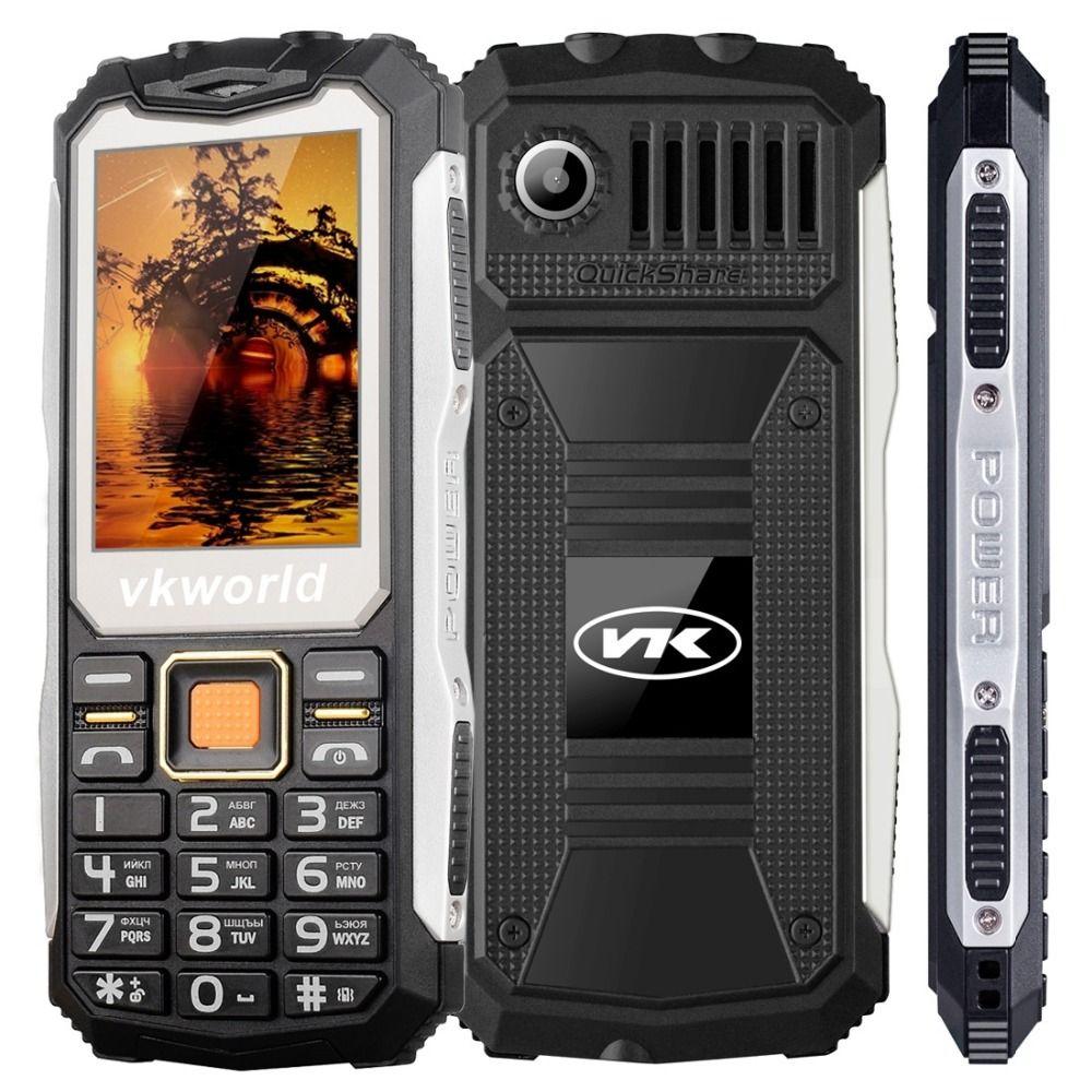 Original VKWorld Stone V3S 2.4 inch Mobile Phone GSM FM Russian Keyboard Dual SIM Cellphone Anti-Low Temperature Dual LED Light