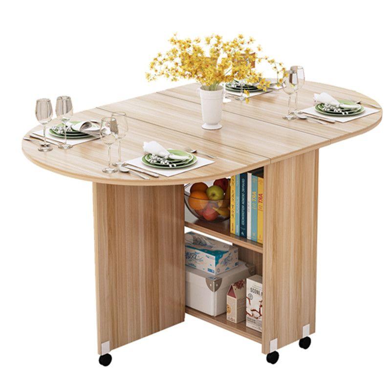 Klapp Beweglichen Esstisch Mit Multidirektionale Rad Holz Küche Tisch Schrank Portable Mesa Centro Elevable
