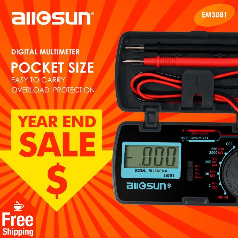 All-Sun EM3081 Digital Multimeter 3 1/2 1999 t AC/DC Ammeter Voltmeter Ohm Portable Meter voltage meter