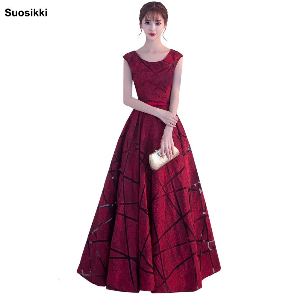 Robe De Soiree suosikki Banquet Elegant Evening Dress The Bride Wine Red satin Long Party Prom Dresses Custom formal gown