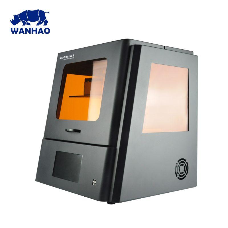 2018 WANHAO größten günstige DLP LCD SLA Harz Schmuck Dental 3D Drucker D8 mit touchscreen und kostenloser versand kosten