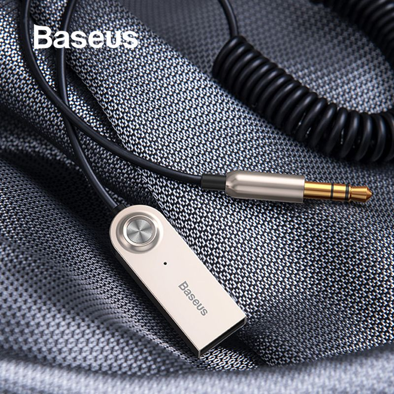 Baseus Bluetooth Transmitter Wireless Bluetooth Receiver 5.0 Car AUX 3.5mm Bluetooth Adapter Audio Cable For Speaker Headphones