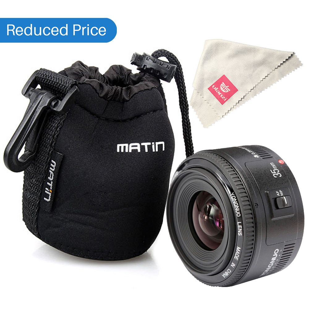 Ulanzi Yongnuo <font><b>35mm</b></font> Lens YN35mm F2 lens For Canon Wide-angle Large Aperture Fixed Auto Focus Lens EF Mount EOS Camera w Lens Bag