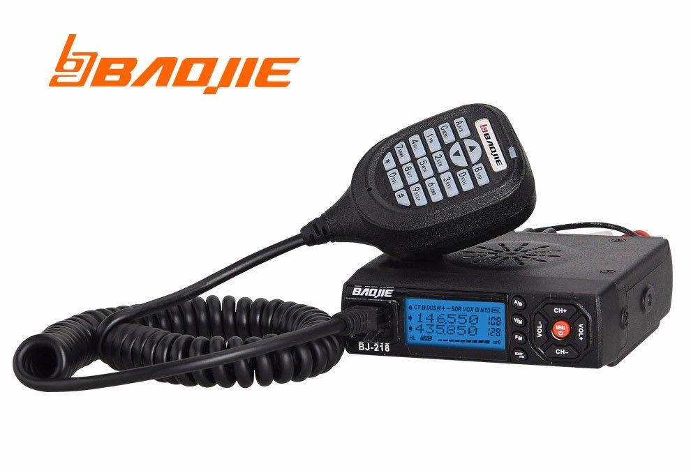 Baojie BJ-218 Dual Band Mobile Radio Transceiver 20/25W Radioi stations for car bus Ham CB Radio Station Police Equipment
