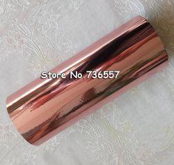 Gulungan Rose Emas Hot Foil Stamping Kertas Menekan Panas Transfer Anodized Berlapis Emas Pink Emas Foil Hot 16 Cm X 120 M