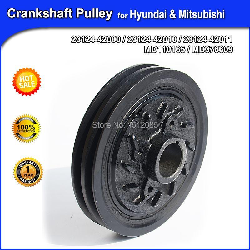 Brand New Crankshaft Pulley / Belt Pulley for Hyundai & Mitsubishi OE#23124-42001,2312442000, , 23129-42541, MD110165, MD376609
