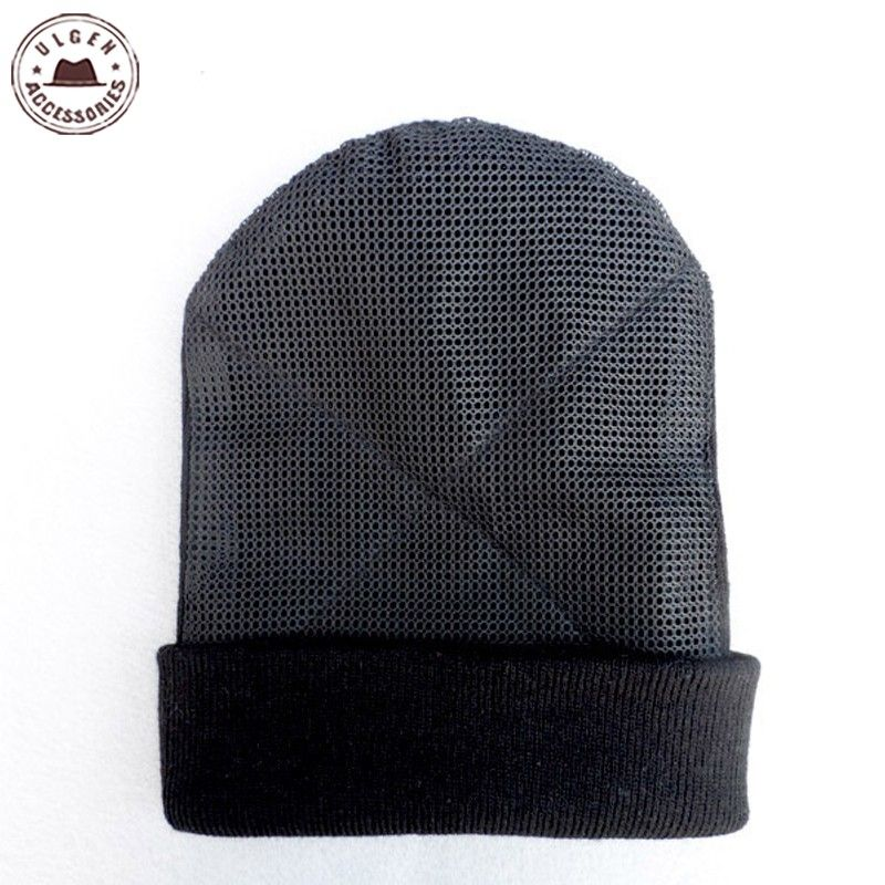 Nouveau BBoy hip hop danse de Chapeau hommes chapeau en maille bonnets Chaud Tournant bonnets noir chapeau pour hommes