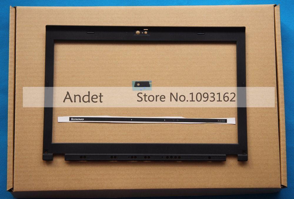 Nouveau Lenovo ThinkPad X220 X230 X220I X230I LCD couvercle de la lunette avant lumière LED indicateur boîtier de plaque de caméra 04W2186 04Y1854