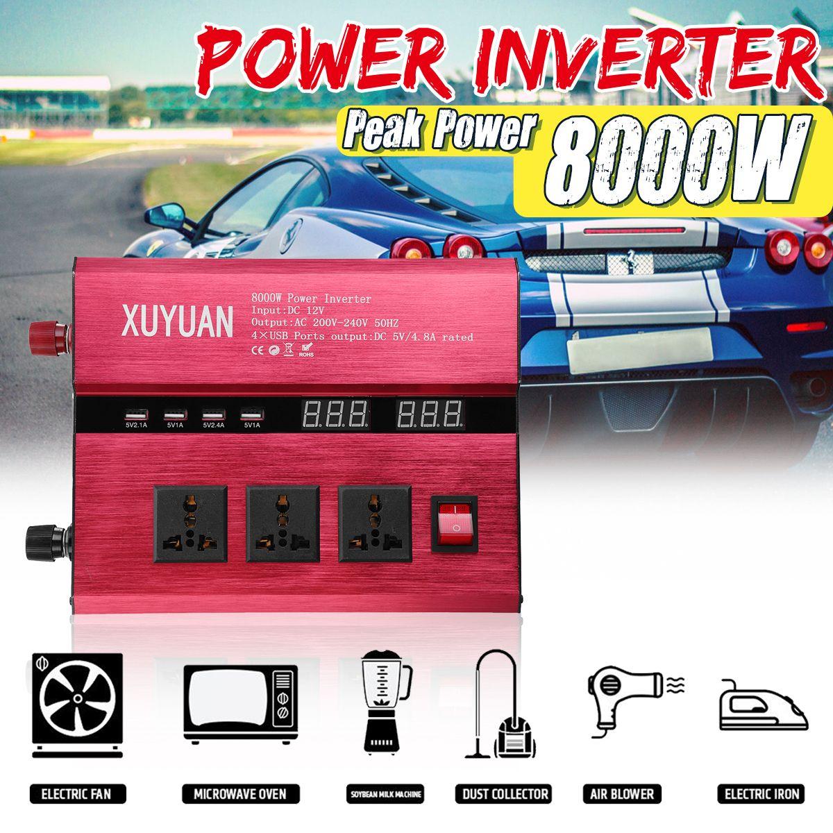 10000W Solar Power Inverter 12V 24V 220V Sine Wave Inverter DC-AC Car Invensor Convertor Voltage Transformer 10000W Peak Power