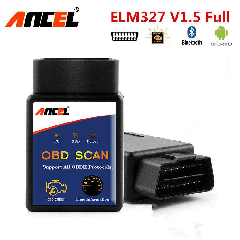 Ancel ELM327 OBD2 Bluetooth Scanner orme 327 V1.5 OBD 2 Auto ODB voiture Diagnostic pour moteur Code lecteur outil de Diagnostic