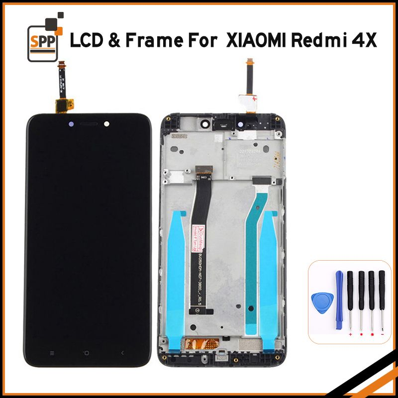 WIWU LCD For Redmi 4X 4 X Xiaomi LCD Mobile Phone Touch Screen Display Digitizer Assembly Repair Parts with Frame +Tool