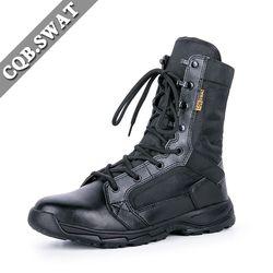 CQB. SWAT Pria Sepatu Bot Tentara Militer Taktis Boots Musim Panas Bernapas Dpt Dipakai Sepatu ukuran 39-45