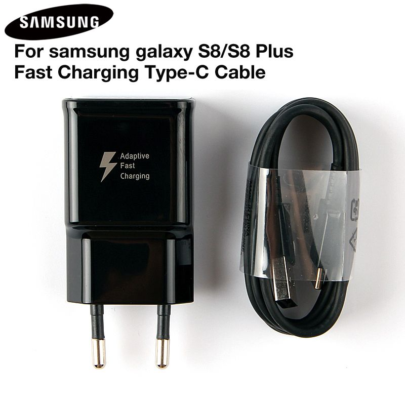 Original Fast Charger Adapter EP-TA20EWE For Samsung Galaxy S8 G9500 NOTE8 Note 9 G9550 C7Pro C9 Pro A8 A7 2017 USB Type C Cable